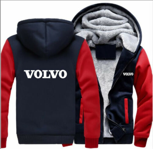 Men Velvet Winter Coat Volvo Schwifty HOODIE ZIP UP Jacket Polyester Sweatshirts