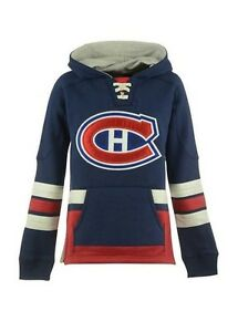 detailed look 8e0df 7b5b4 Details about HABS Montreal Canadiens Vintage CCM Hit the Boards Pullover  Retro Hoodie Jersey