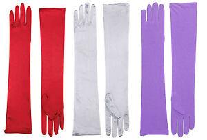 Womens-Long-Satin-Opera-Gloves-Purple-Red-White-Jessica-Rabbit-Dress-Up