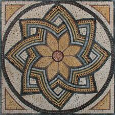 Beautiful Handmade Floral Design Mural Art Home Decor Marble Mosaic GEO1230