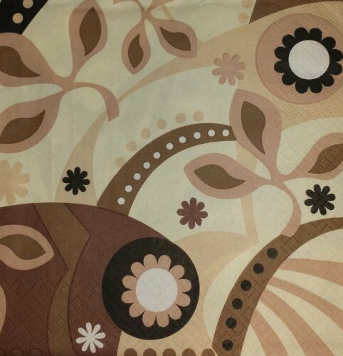 Flores-decoupage y elaboración de 14 4 X Solo Papel Servilletas paisaje abstracto