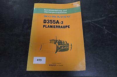 3 Planierraupe Und Wartungsvorschriften Für D355a Streng B499 Komatsu Betriebs