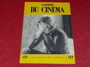 REVUE-LES-CAHIERS-DU-CINEMA-N-137-NOV-1962-LEENHARDT-GODARD-EO-1rst-Printing