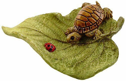 "2.75"" Little Turtle on Leaf Fairy Garden Terrarium Miniature Dollhouse Small"