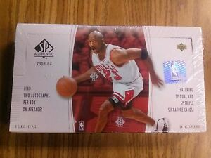cheap for discount cf038 068c8 Details about 2003-04 Upper Deck SP Authentic Basketball Hobby Box Lebron  james