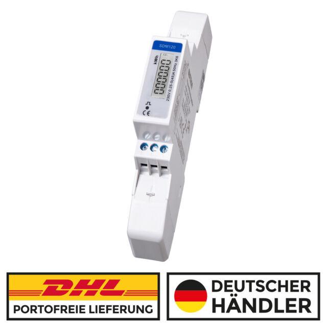 Wechselstromzähler Stromzähler mit LCD Display S0 230V 5(45)A für DIN Hutschiene