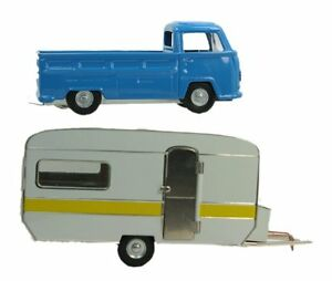 Trailer-amp-VW-Truck-Set-Bundle-O-Scale-Metal-Kovap-Railroad-Vehicles