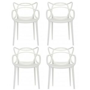 Offerta 4 sedie MASTERS Kartell bianche white blanche Philippe ...
