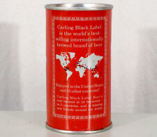 CARLING BLACK LABEL ?WORLD MAP? ZIP TAB PULLTAB BEER CAN NATICK MASSACHUSETTS MA