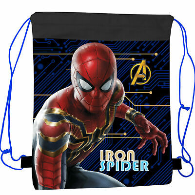Spiderman Drawstring Bag,Sport Bag,Gym Bag,Swimming Bag Official Licensed 40cm