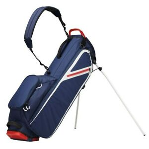 NEW TaylorMade Golf FlexTech Lite Stand Bag 4-way - No Logo - Navy / White / Red