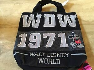 Disney-Wdw-1971-Mickey-Mouse-Backpack-Tote-Bag-New