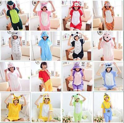 Hot Summer Unisex Kigurumi Anime Cosplay Pajamas Onesi Sleepwear Short Sleeve