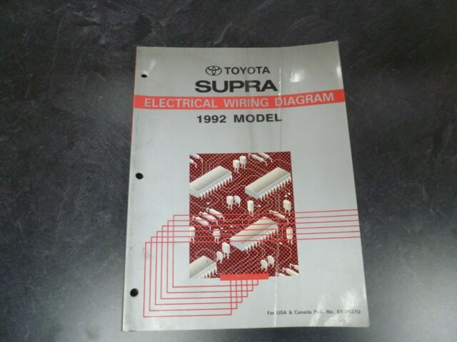 1992 Toyota Supra Hatchback Electrical Wiring Diagrams