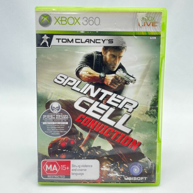 Tom Clancy's Splinter Cell: Conviction (Xbox 360, 2010) PAL With Manual Like New
