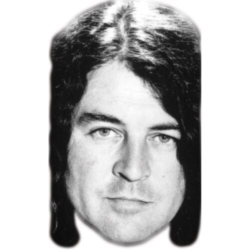 Celebrity Mask Black White Card Face and Fancy Dress Mask Ian Gillan