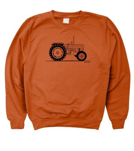5XL Homme CROQUIS ORIGINAL Massey Ferguson MF 135 Classic Tracteur Sweat S