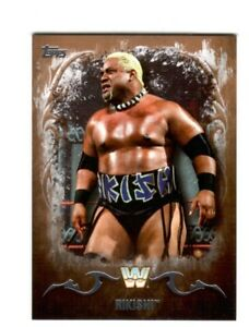 WWE-Rikishi-83-2016-Topps-Undisputed-Bronze-Parallel-Card-SN-50-of-99