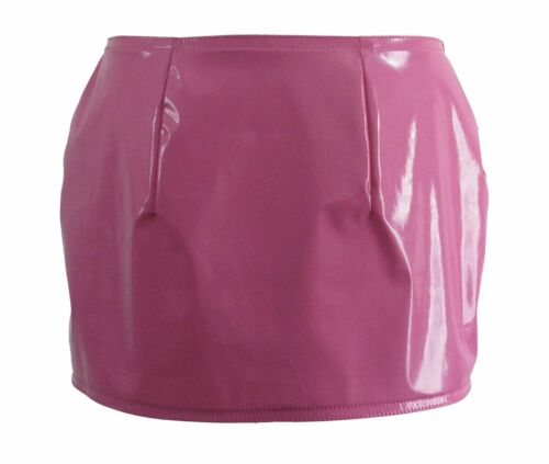 blue or red shiny pvc mini skirt all sizes pink New black white