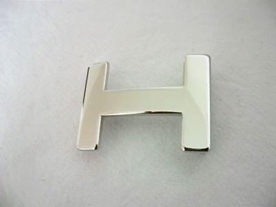 Umjubelt B-WARE silber Hochglanz Gürtelschnalle Schließe Buckle 6 cm
