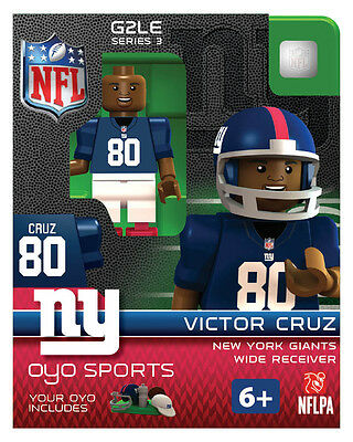Victor Cruz OYO NEW YORK GIANTS NFL Mini Figure LEGO Compatible NEW G2