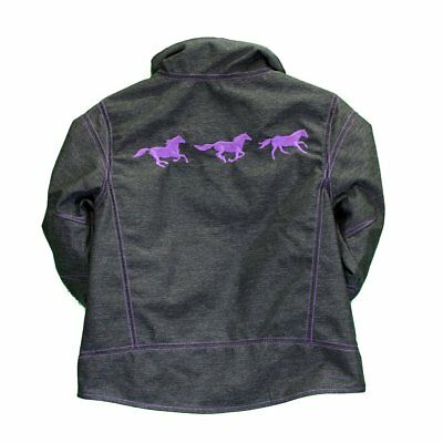 Cowgirl Hardware Girls Aqua Horse Wreath Shell Jacket 892152-394 492152-394