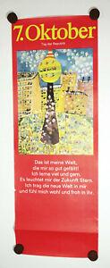 GDR Poster 7. October Tag Der Republic Children Motif
