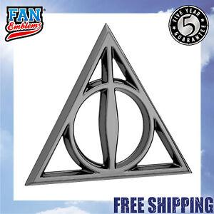Fan Emblems Harry Potter Car Badge 3D Deathly Hallows Symbol Chrome