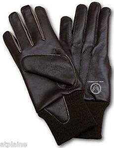 Gants-moto-cuir-double-ARMY-AIRFORCES-marron-Taille-XL