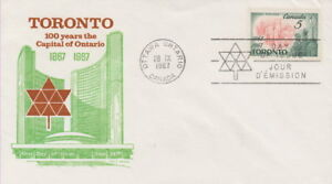 CANADA-475-5-TORONTO-CENTENARY-ON-COLE-CACHET-FIRST-DAY-COVER