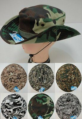 120pc Camouflage Hardwood Camo MESH Fishing Hats Boonie Outback Hat w// Snaps