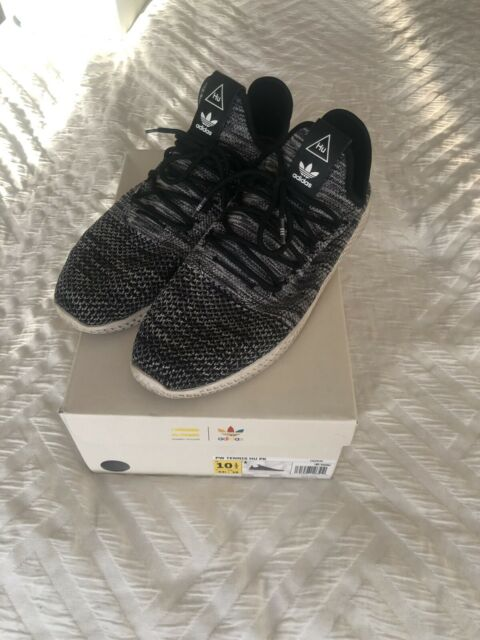 Adidas PW Tennis HU PK Sneaker, WhiteBlack, Pharrell Williams, Size 10.5