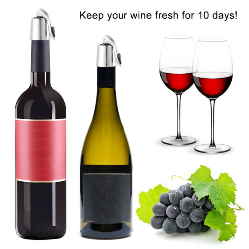 Stainless Steel  Red Wine Bottle Stopper Plug Vacuum  Cap Sealed Hot Reusable