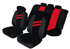 VAUXHALL CAVALIER Universal Car Seat Covers RED STRIPE