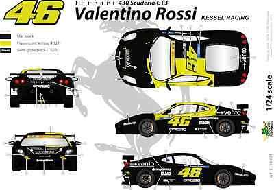 FFSMC Productions Decals 1//43 Ferrari F-430 Scuderia GT Valentino Rossi