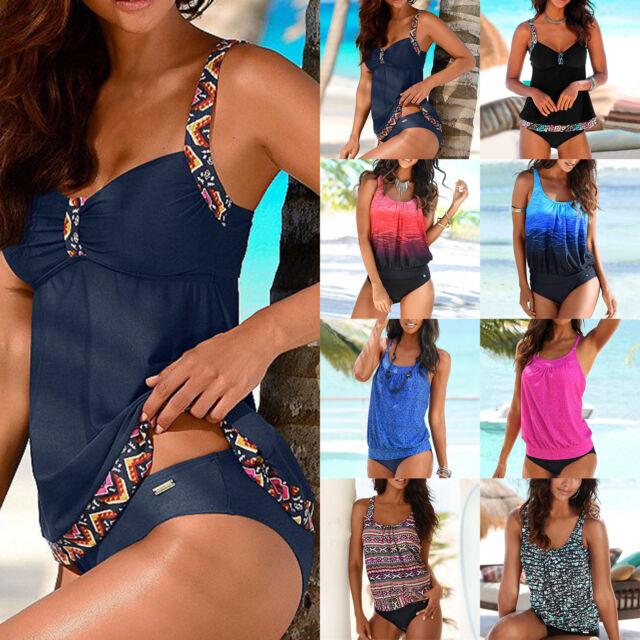 femmes grande taille maillot de bain Bikini Tankini ensemble sportive baignade