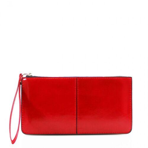 LADY Donne PU Pelle Portafoglio bracciale borsetta borsa porta handbagcard Frizione UK