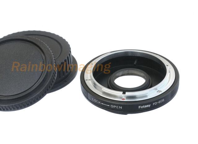 Canon FD Lens to Canon EOS Camera Adapter Kiss X80 X70 X50 X8i X7i X6i X7 X5 X4