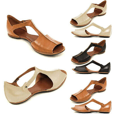 Summer Women's Casual Sandals Flat Shoes Open Toe Ankle Roman Fish Mouth Sandals | eBay