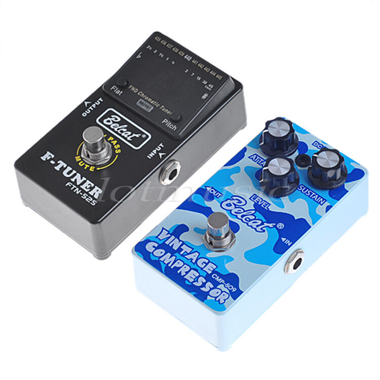 1 Pc Genuine Belcat Compressor Effect Pedal and 1 Pc Genuine Belcat Pedal Tuner