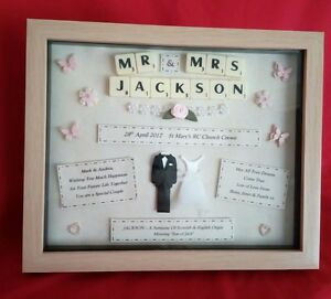 Personalised wedding gift frame picture keepsake bride groom image is loading personalised wedding gift frame picture keepsake bride groom negle