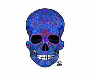Sugar Skull Stickers Dia de los Muertos Decals Assorted sets and sizes PURPLE
