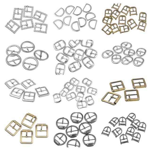 1Set Metall Schnallen Ersatzschnalle Buckles für Taschen Schuhen Silber/Bronze
