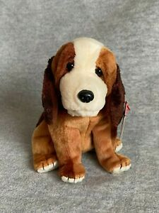 """2002 Ty Retired """"Holmes"""" the Bloodhound Beanie Baby of the Month, PE Pellets"""