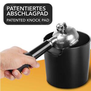 Abschlagbehälter Kunststoff Knockbox Abklopfbehälter Kaffeesatz Schwarz