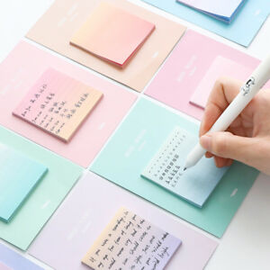 30-Pages-Rainbow-Gradient-Color-Self-Adhesive-Memo-Pad-N-times-Sticky-Notes