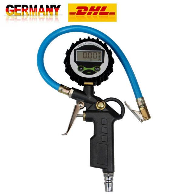 Digital LCD Reifendruckmessgerät Geeicht Luftdruckprüfer Reifenfüller Manometer