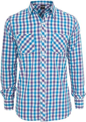 Urban Classics Herren Langarmhemd Tricolor Big Checked