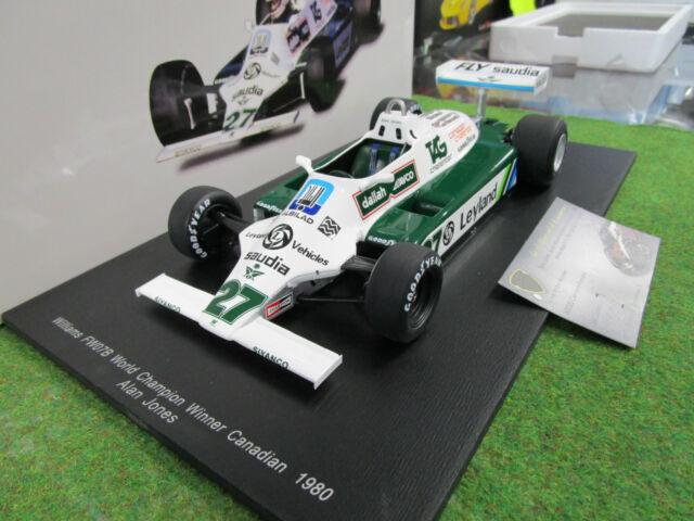 F1 WILLIAMS FW07B # 27 World Champion 1980 A. JONES 1/18 SPARK 18S117 formule 1