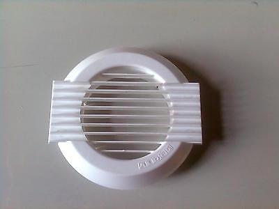 Gitter/ Rundes Lüftungsgitter für Zu- und Abluft DN 80-100 aus Kunststoff